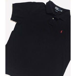 Black Polo Iconic Mesh Polo, XL